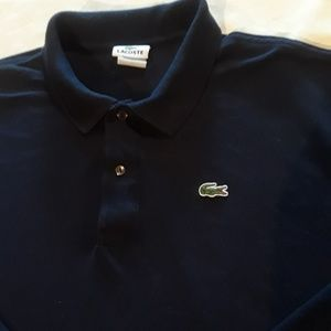Men's Lacoste Big Size 9 Navy Long Sleeve Shirt